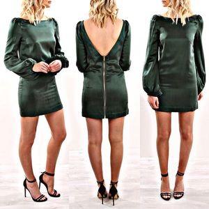 🆕 NWT ASILIO 💚 Longsleeve Silk Mini Dress